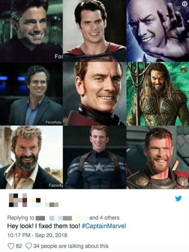 Credit: Twitter / Marvel Studios / DC / Warner Bros