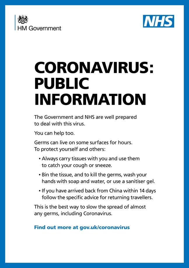The UK has been put on alert over the spread of coronavirus. Credit: PA