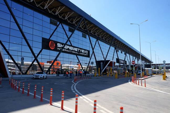 The man was charged with hooliganism following the incident at Sheremetyevo International Airport. Credit: East2West News