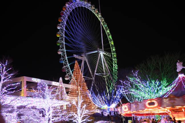 Yomiuriland is offering a co-working package, with access to its Ferris wheel. Credit: Shutterstock