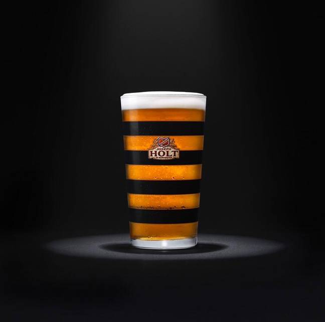 The Manchester Bee Beer Glass. Credit: Joseph Holt