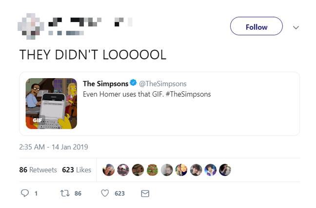 The Simpsons GIF. Credit: Twitter
