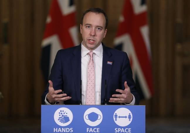 Matt Hancock announced that Tier Four measures would be expanded to other parts of England. Credit: PA