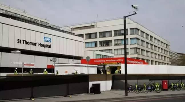 St Thomas' Hospital, where Johnson was treated. Credit: PA