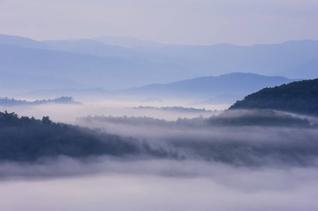 They don't call them the Great Smoky Mountains National Park for nothing. Credit: PA