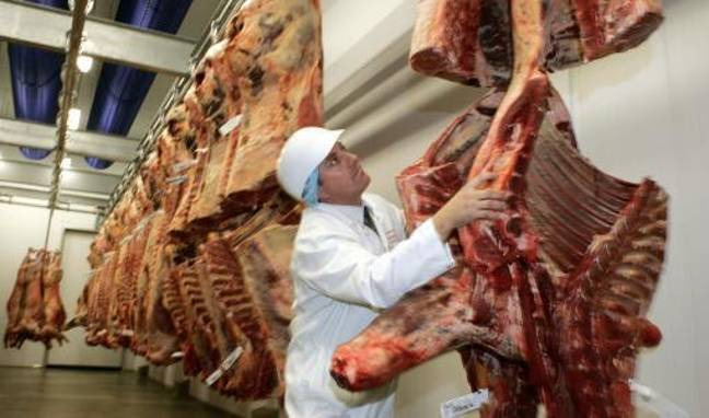 Alma-Jade gets all her meat either from a butcher or from the local farmer. Credit: PA