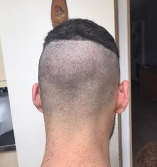 The perfect case study for not trying a fade at home. Credit: LADbible