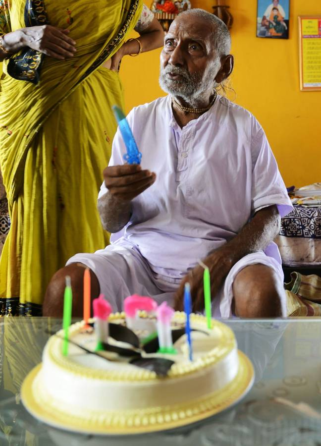 Sivananda claims to be 123 years old. Credit: Getty