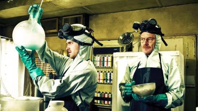 Walter White aka Heisenberg and Jesse in Breaking Bad. Credit: Netflix