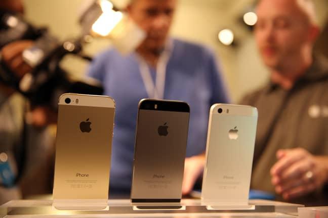 iPhone 5s models. Credit: PA