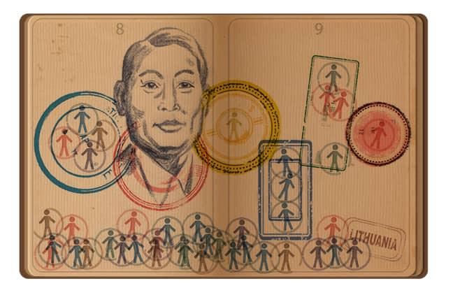 Google's celebration of Chiune Sugihara Credit: Google