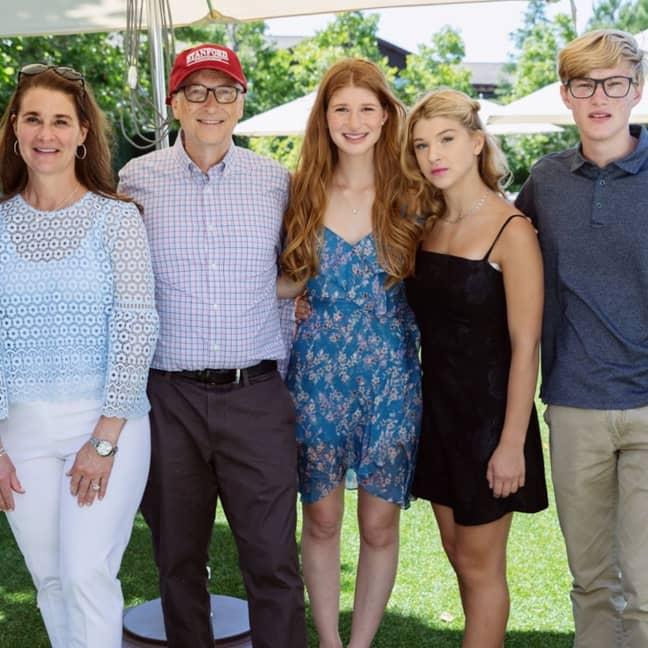 Jennifer Gates, centre, with her family. Credit: Instagram/Jennifer Gates