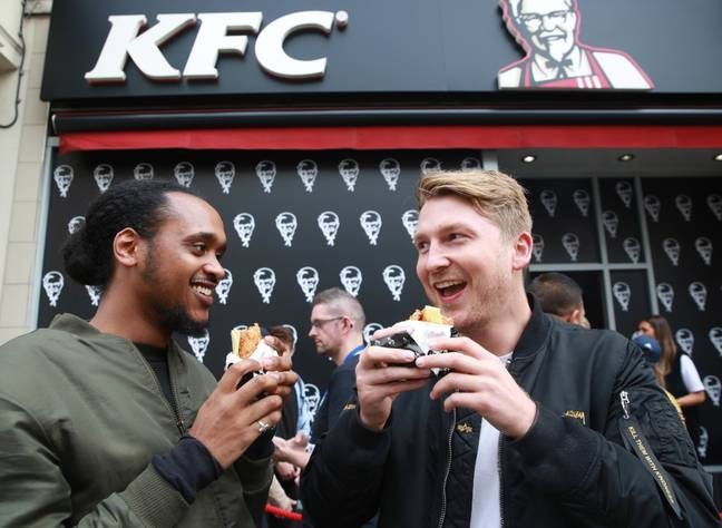 Two chaps enjoying the Double Down back in 2017. Credit: PA