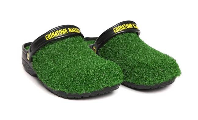 Admit it, you've always wanted a pair of astro turf Crocs. Credit: Chinatown Market/Crocs