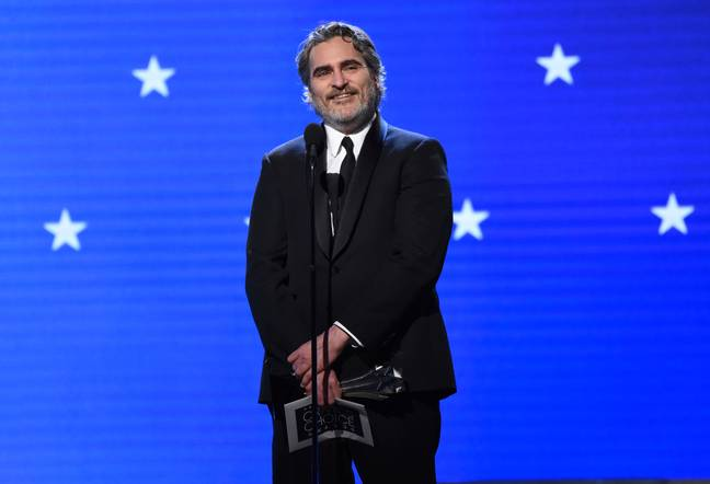 Joaquin Phoenix at the Critics' Choice awards last night. Credit: PA