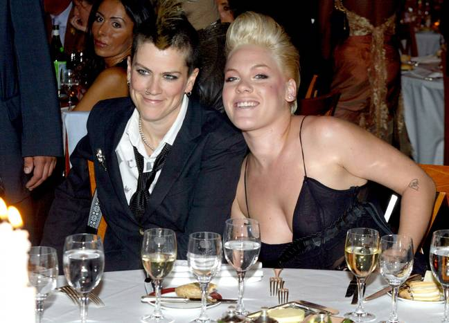 Pink has revealed that Robin Williams stood up for her after she found out she hadn't won a Grammy in 2003. Credit: PA
