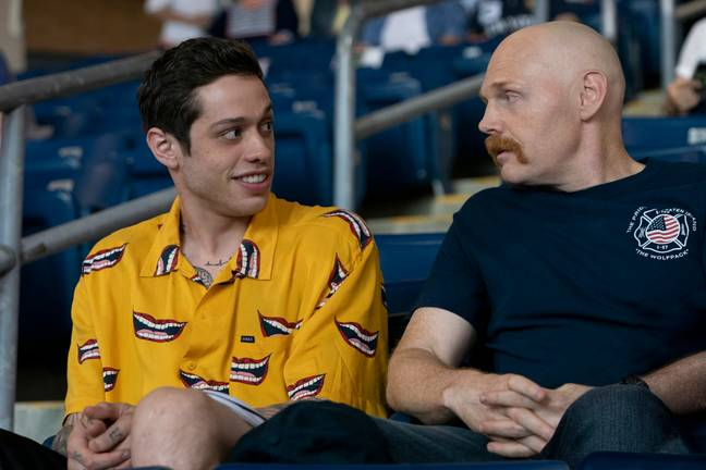 Scott (Pete Davidson) clashes with his mum's new partner Ray (Bill Burr) in the movie. Credit: Universal