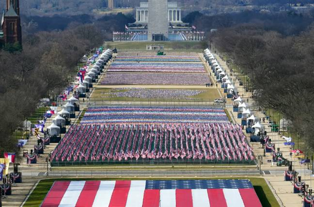 Preparation is underway for the pared down inauguration. Credit: PA