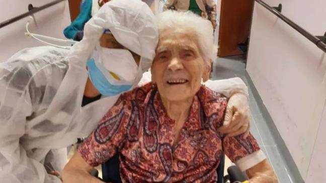 Ada, 104, has made a full recovery from Covid-19. Credit: Ada Zanusso