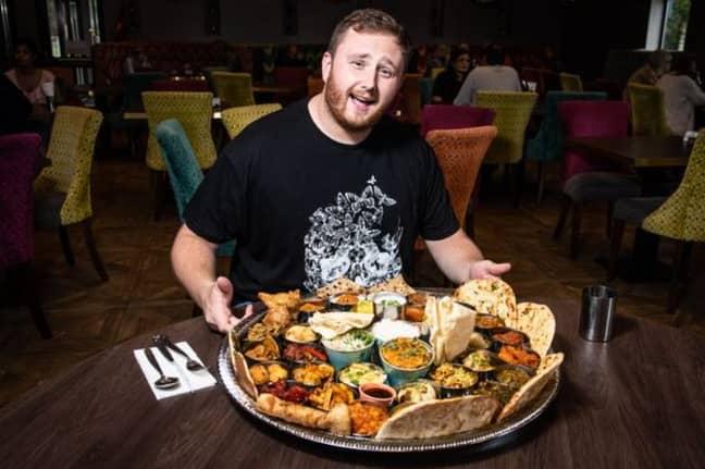 Leigh Drennan preparing to take on the meal. Credit: Mercury Press