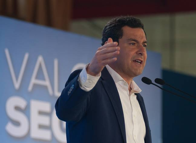 President Juanma Moreno wants bars and restaurants in Andalusia to open from 25 May. Credit: PA