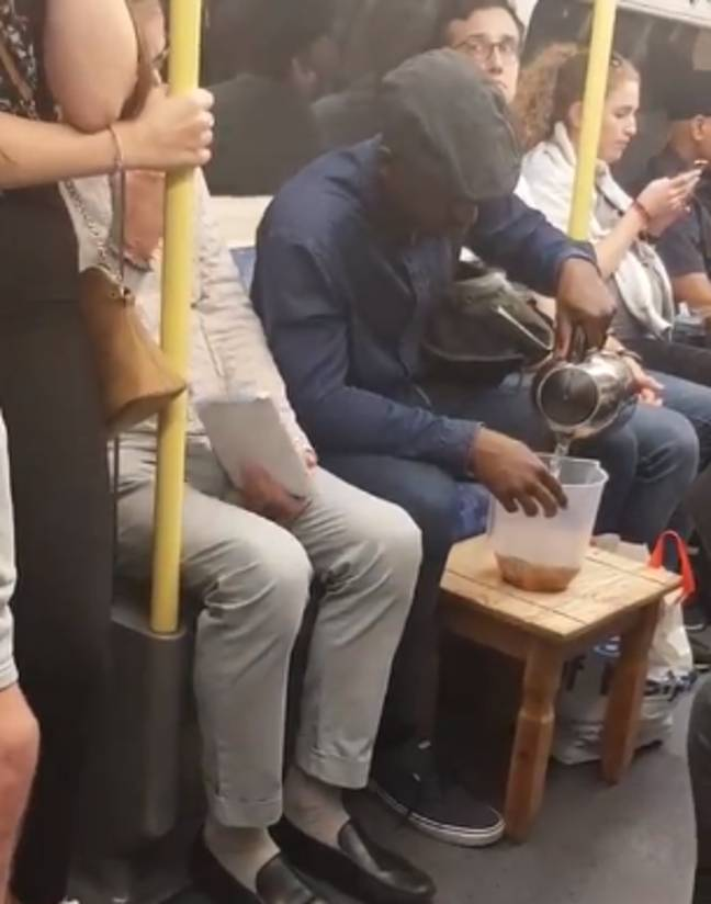 Elvin has also made tea on the tube with a real kettle. Credit: Instagram/elvinmensah