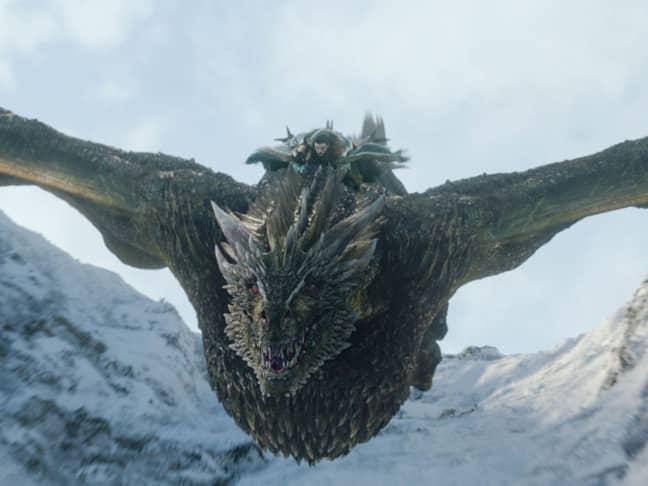Jon Snow riding a dragon. Credit: HBO