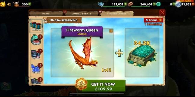 In-game purchases can be as much as £109. Credit: Triangle News