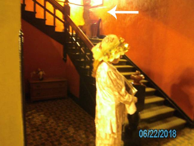 A photograph of one of the 'ghosts' in the Crescent Hotel. Credit: 1886 Crescent Hotel and Spa