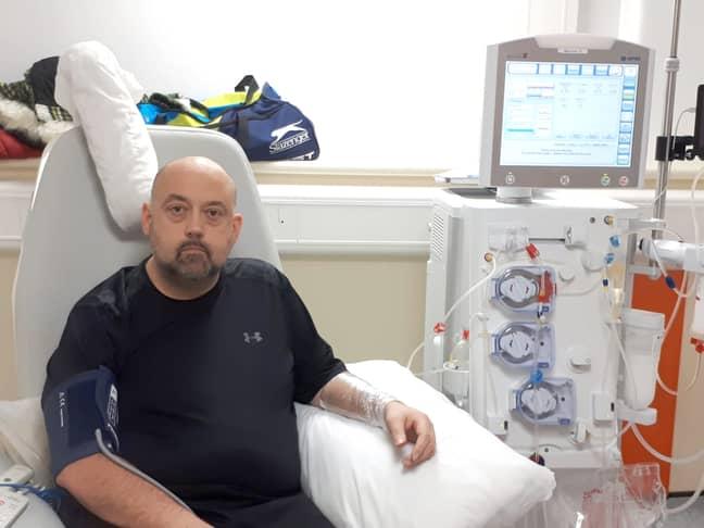Stephen on dialysis. Credit: Storytrender