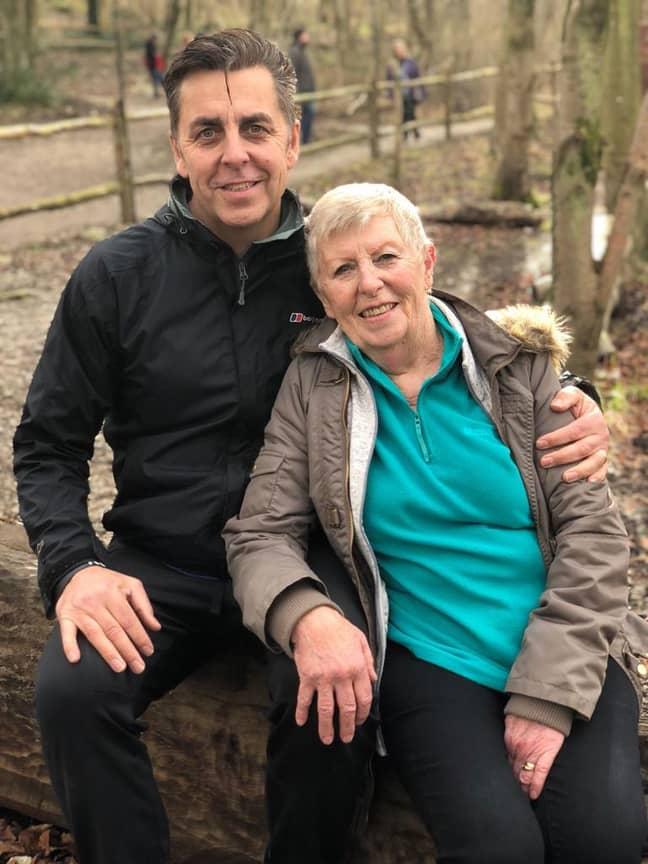 Mark and his mum. Credit: Mark Shephard