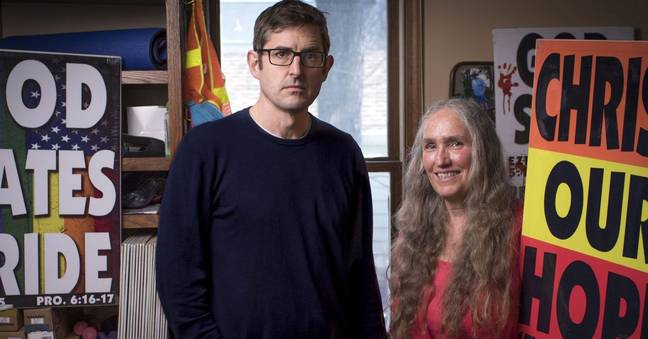 Louis Theroux revisiting Westboro Baptist Church. Credit: BBC