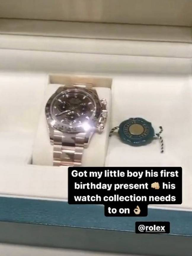 The watch. Credit: Instagram/amirkingkhan