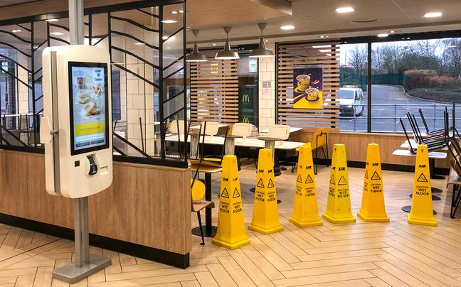 McDonald's closed its seating areas on Wednesday (18 March) to limit the spread of Covid-19. Credit: PA