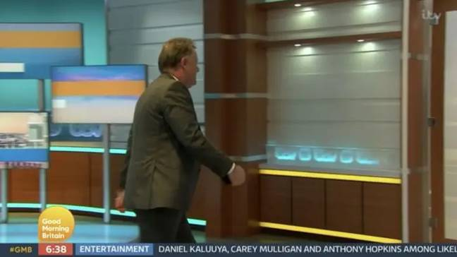 Piers didn't like being on the receiving end. Credit: ITV/Good Morning Britain