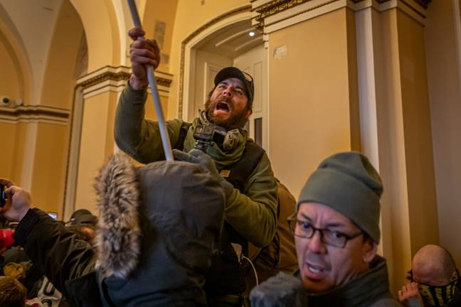 Trump supporters inside the Capitol Building. Credit: PA