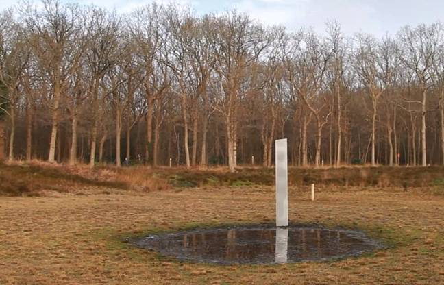 The monolith was found by a group of hikers in the Netherlands. Credit: Newsflash