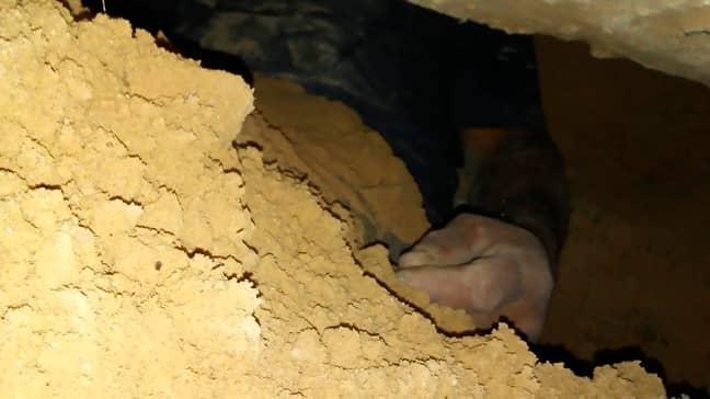 Cesar Arnoldo Gomez dug a tunnel to spy on his ex. Credit: CEN
