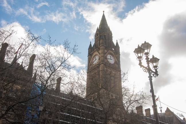 Manchester Town Hall. Credit: PA
