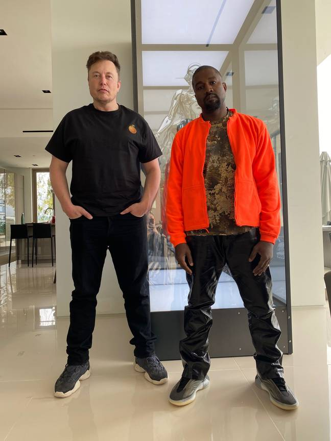 Kanye West has shared a picture of himself with Elon Musk. Credit: Twitter/Kanye West