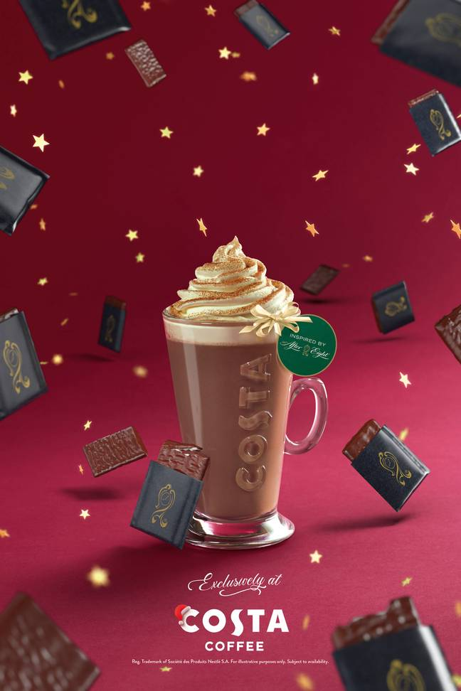 After Eight hot chocolate, anyone? Credit: Costa