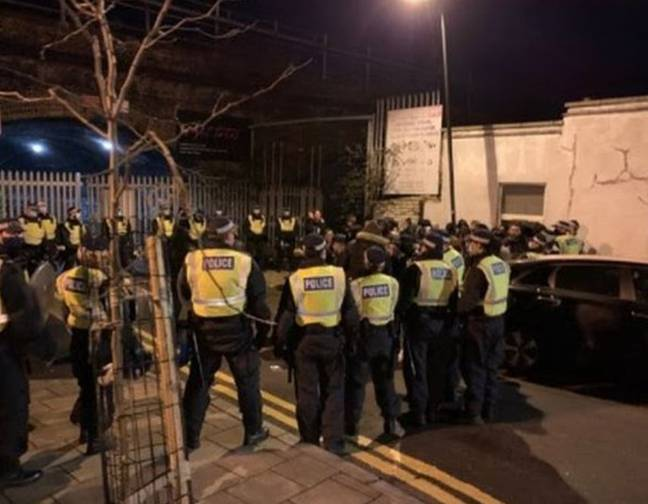 Police in the UK stopped a rave in London. Credit: Met Police
