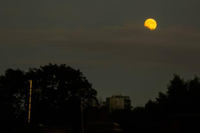 Last year's Buck Moon over London. Credit: PA