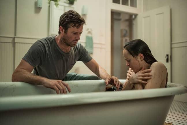 Armie Hammer and Dakota Johnson in Wounds. Credit: Netflix