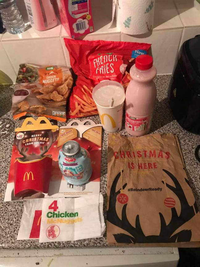 Another dad has come up with this - a homemade McDonald's. Credit: Deadline News