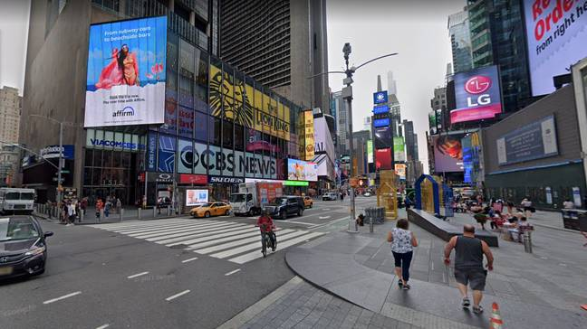 Time square in June 2021. (Credit: Google Maps)