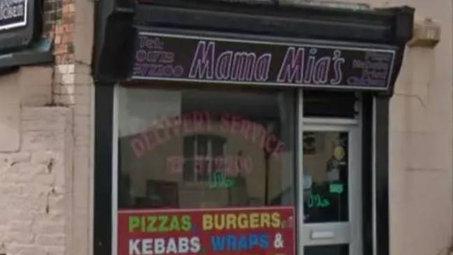 A takeaway was forced to take down its 'anti-mask' sign. Credit: Google Maps