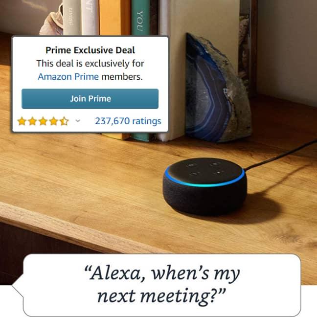 Save 62% on a Echo Dot. Credit: Amazon