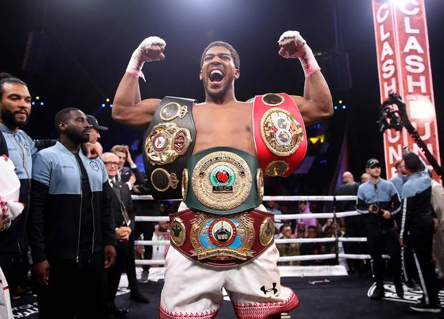 Tyson Fury has described Joshua's belts as his 'leftovers'. Credit: PA
