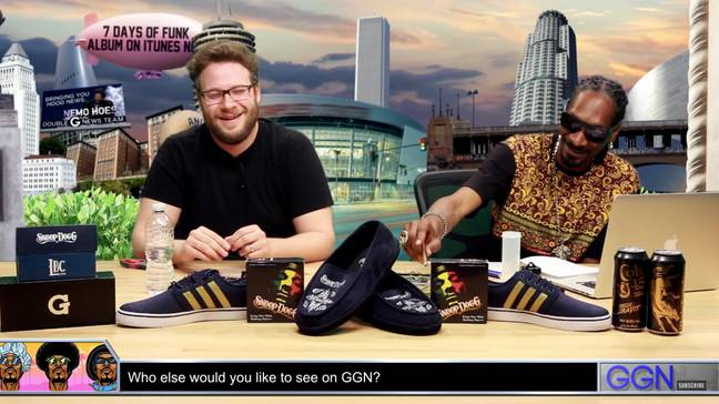The pair have been friends for a while, but Rogen had never seen the creative process before. Credit: YouTube